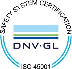 Safety system certification ISO 45001 logo